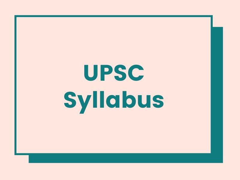 upsc syllabus download