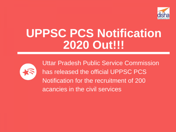 UPPSC PCS Notification 2020 Out